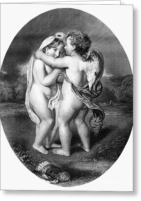 Cupid & Psyche, 1873 Greeting Card