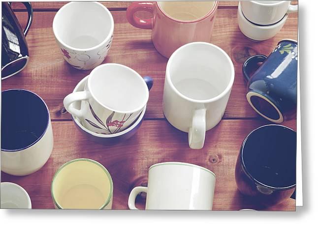 Cups Greeting Card by Joana Kruse