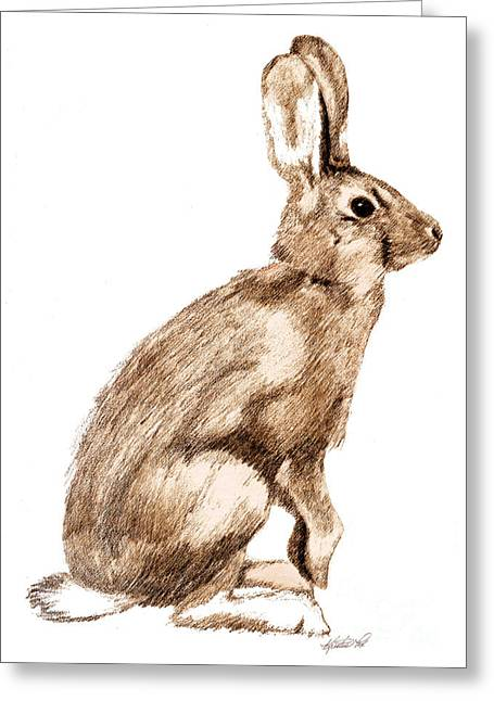 Curious Rabbit Greeting Card