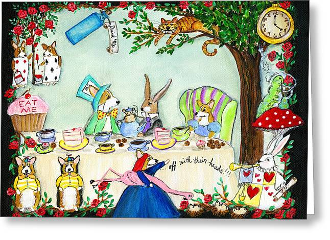 Curiouser And Curiouser Greeting Card by Cathy Santarsiero