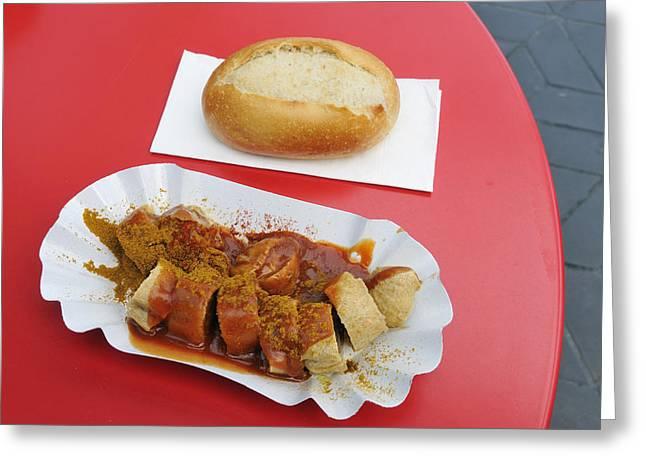 Currywurst - German Food - Curried Sausage Greeting Card by Matthias Hauser