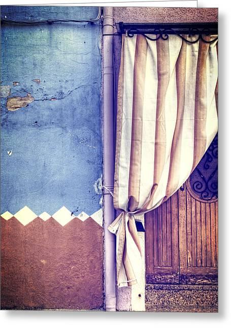Curtain Greeting Card by Joana Kruse