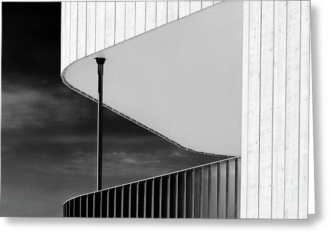 Curved Balcony Greeting Card