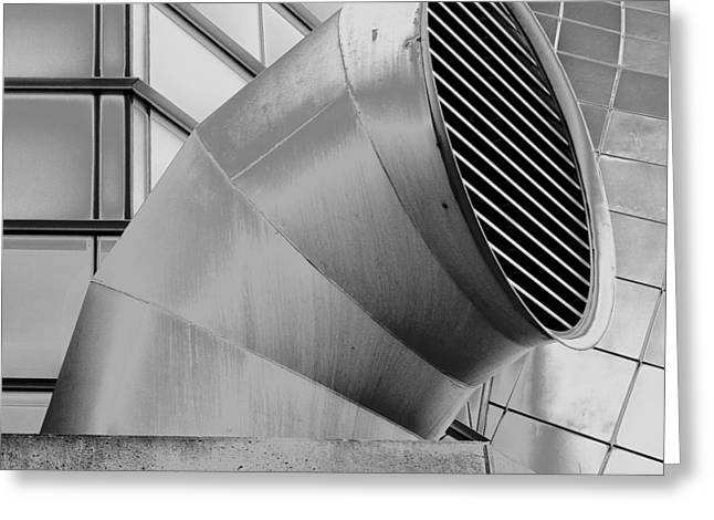 Curved Lines Greeting Card by Tony Locke