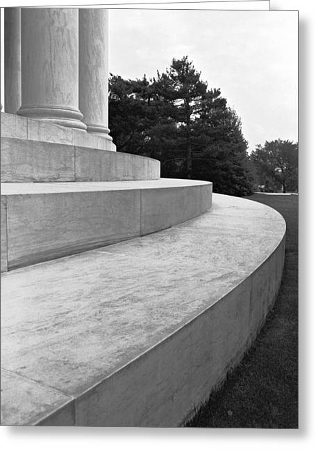 Curvilinear Marble Greeting Card by Jan W Faul