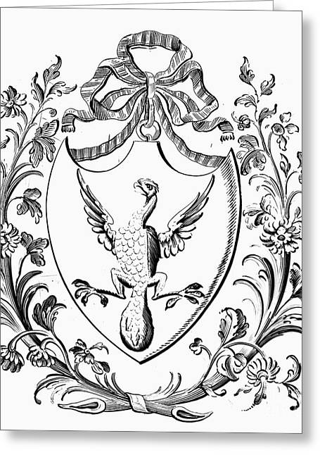 Custis: Coat Of Arms Greeting Card by Granger
