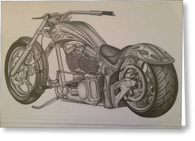 Custom Chopper Greeting Card by Peter Griffen