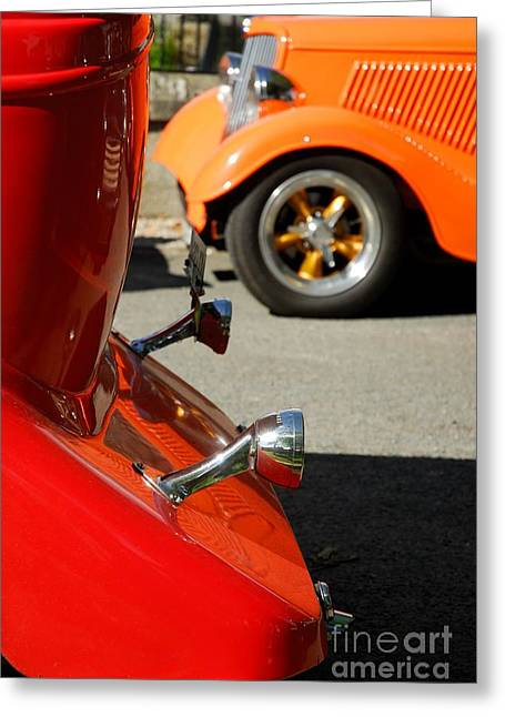 Custom Ford Motor Cars Abstract Greeting Card by John Kelly