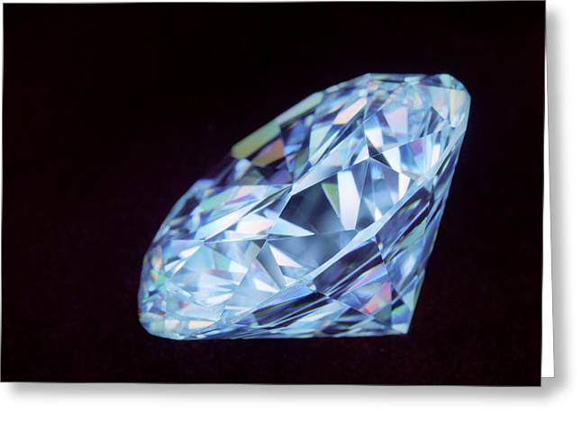 Cut Diamond Greeting Card by Lawrence Lawry