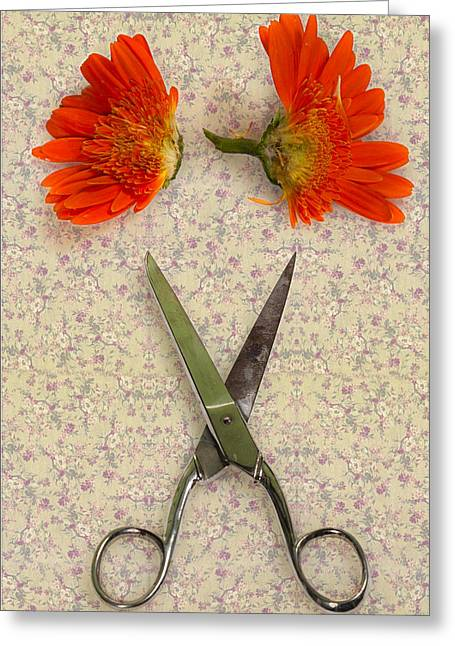 Cutting Flowers Greeting Card by Joana Kruse