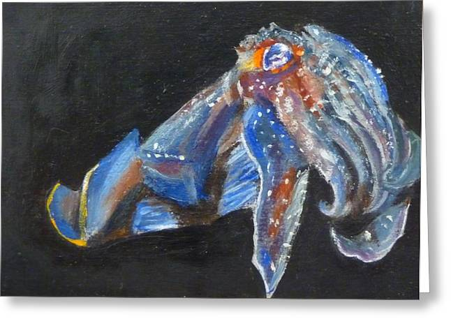 Cuttlefish II Greeting Card by Jessmyne Stephenson