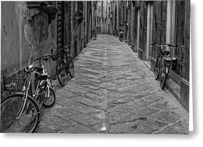 Cycle Lane Greeting Card by Michael Avory