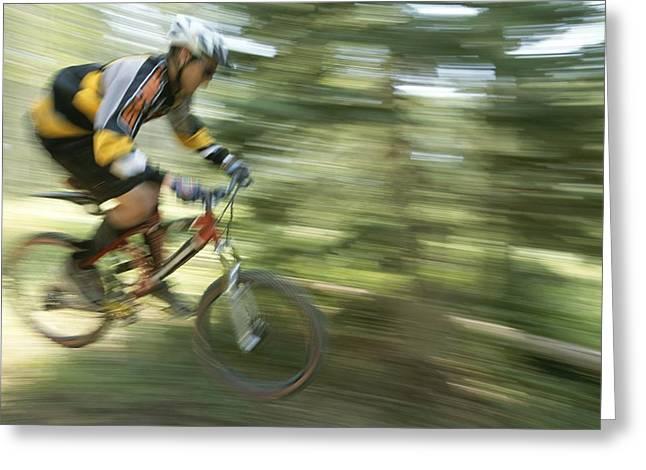 Cycling On Stoner Mesa, Colorado Greeting Card