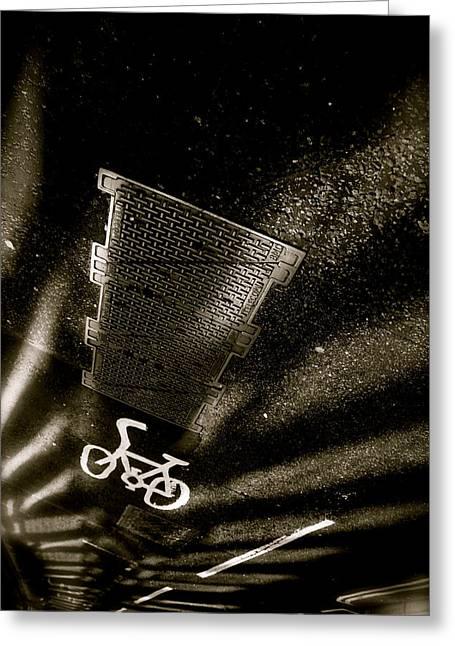 Cycling Shades Greeting Card by Jez C Self