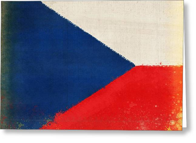 Czech Republic Flag Greeting Card by Setsiri Silapasuwanchai