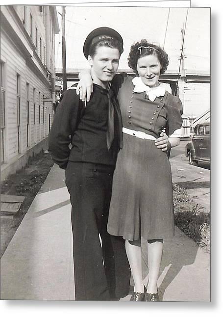 Dad And Gramma 1942 Greeting Card