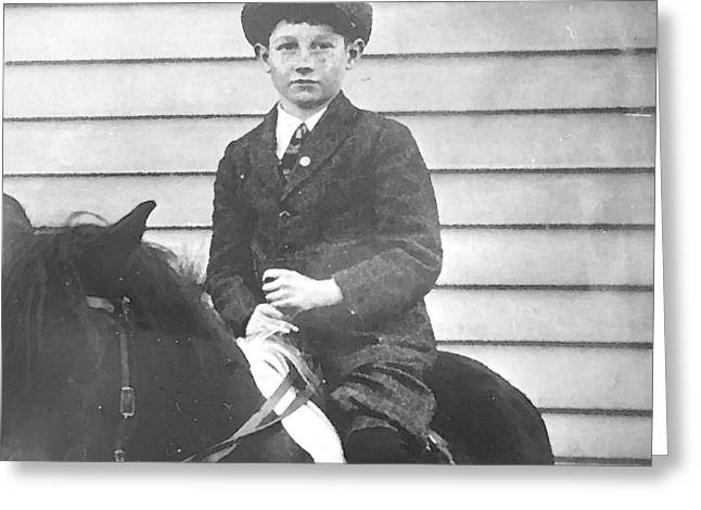 Dad On The Pony Greeting Card