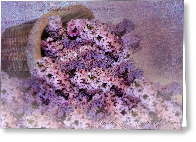 Daddy's Lilacs Series II Greeting Card by Kathy Jennings
