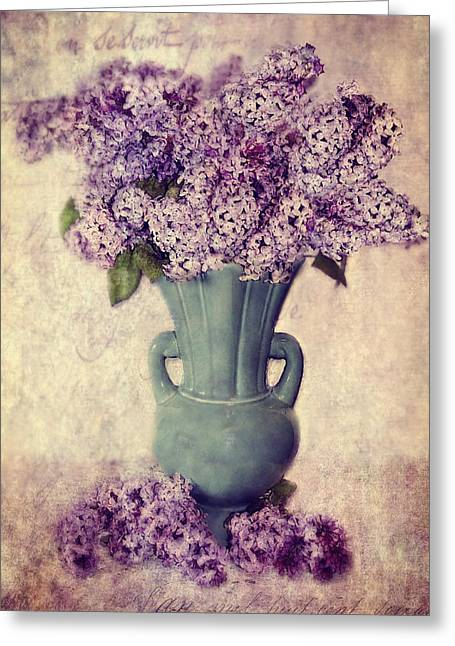Daddy's Lilacs Series Vi Greeting Card by Kathy Jennings