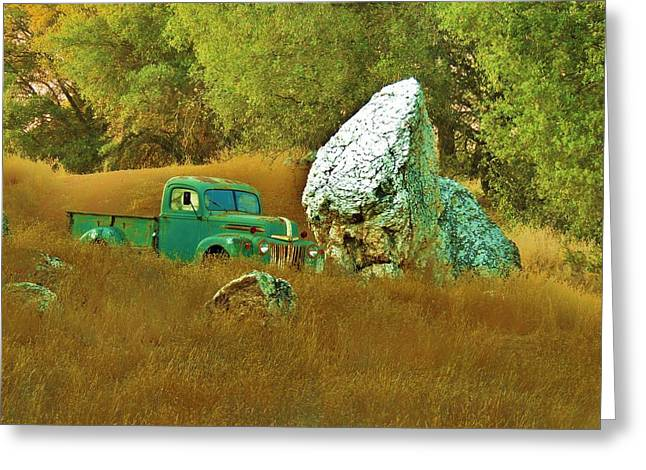 Daddy's Truck Greeting Card by Helen Carson