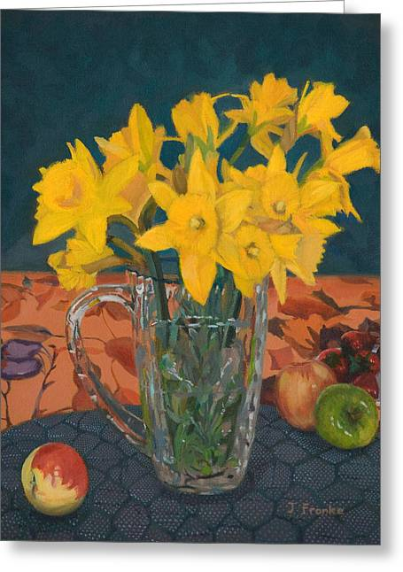 Daffodil Medley Greeting Card by Joanna Franke