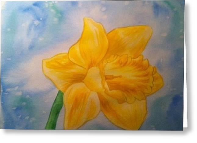 Daffodile Greeting Card by Stephanie Reid