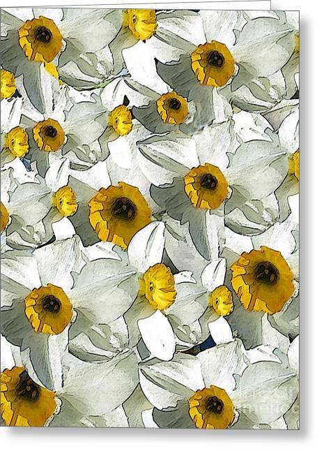 Daffodils Greeting Card by Patricia Januszkiewicz