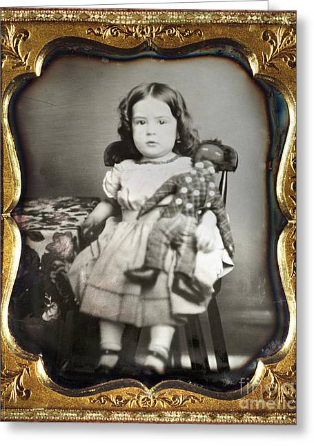 Daguerreotype: Girl, C1852 Greeting Card by Granger