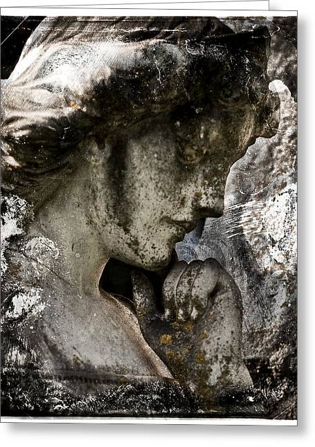 Daguerrotype Angel Greeting Card by Sonja Quintero