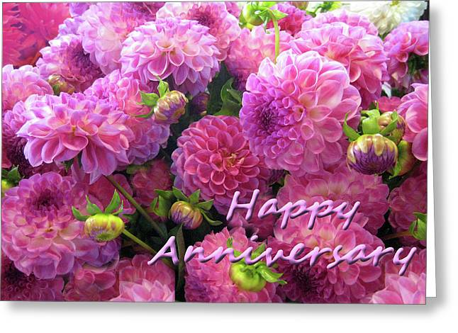 Greeting Card featuring the photograph Dahlia- Anniversary  by Geraldine Alexander