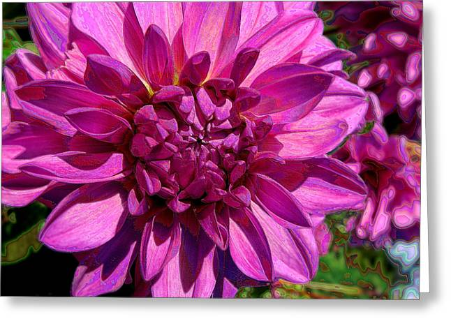 Dahlia Describes The Color Pink Greeting Card