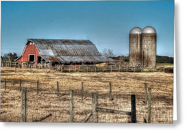 Dairy Barn Greeting Card by Michael Thomas