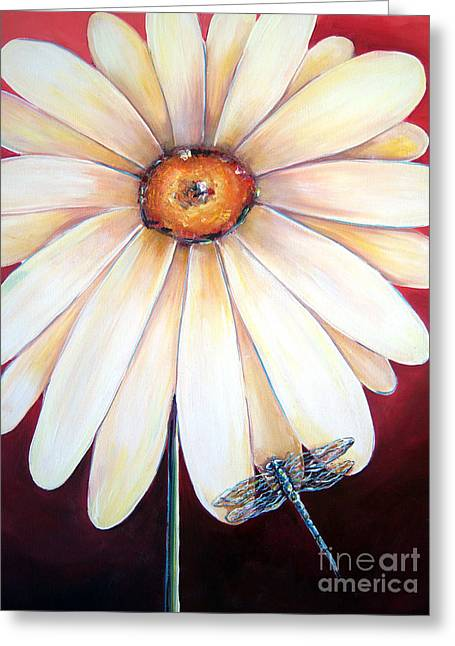 Daisy Dragonfly Greeting Card