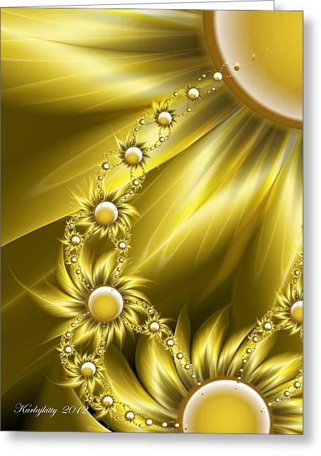 Daisy Sunshine Greeting Card by Karla White