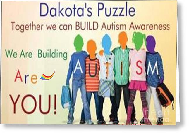 Dakotas Puzzle Raw Greeting Card