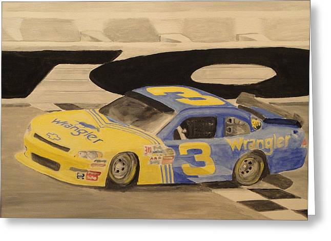 Dale Jr In The 3 Greeting Card