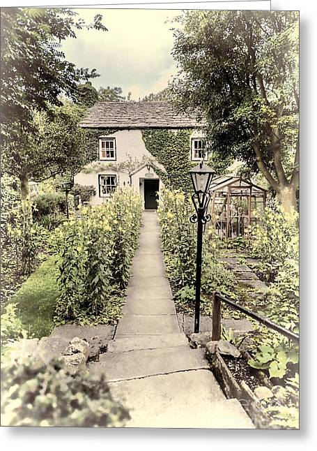 Greeting Card featuring the photograph Dales Cottage Yorkshire by Jack Torcello