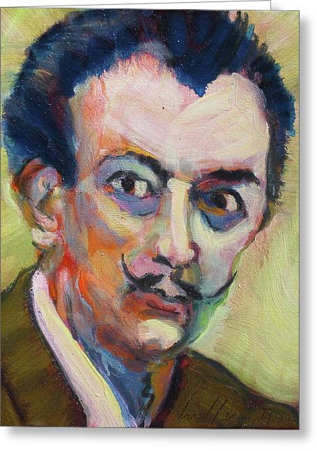 Greeting Card featuring the painting Dali by Les Leffingwell