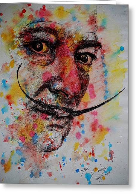 Greeting Card featuring the painting Dali by Lynn Hughes