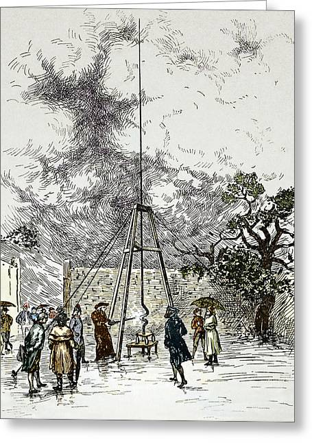 Dalibard's Lightning Experiment, 1752 Greeting Card by Sheila Terry