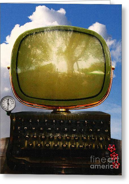 Dali.s Surreal Steampunk Personal Computer With Upgrades Greeting Card