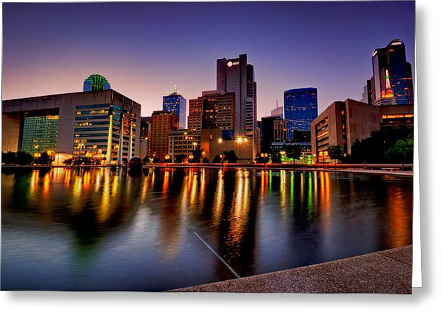 Greeting Card featuring the photograph Dallas City Hall Plaza by John Maffei