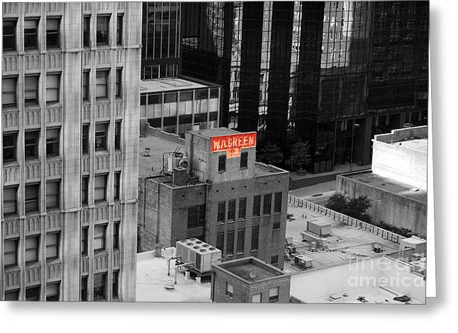 Greeting Card featuring the photograph Dallas Texas Red Color Splash Black And White by Shawn O'Brien