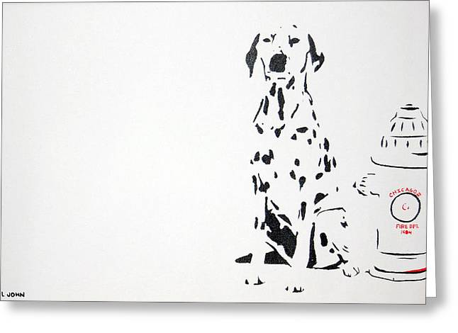 Dalmatian Greeting Card by Michael Ringwalt