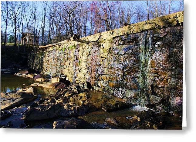 Dam On The River Haw Greeting Card