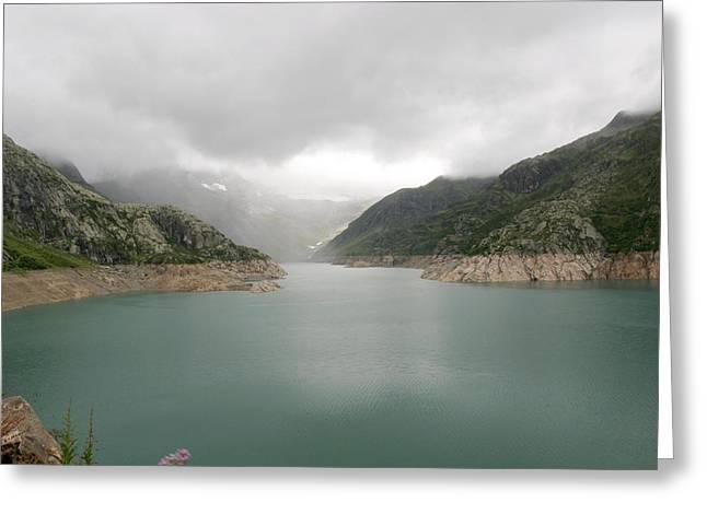 Dam Reservoir Greeting Card by Michael Szoenyi