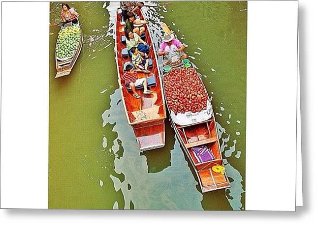 Damnoen Saduak Floating Market Bangkok Greeting Card