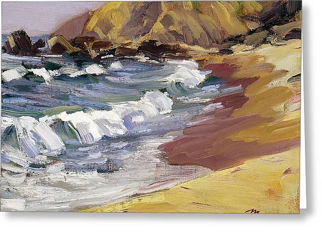 Dana Point Beachhead Greeting Card by Mark Lunde