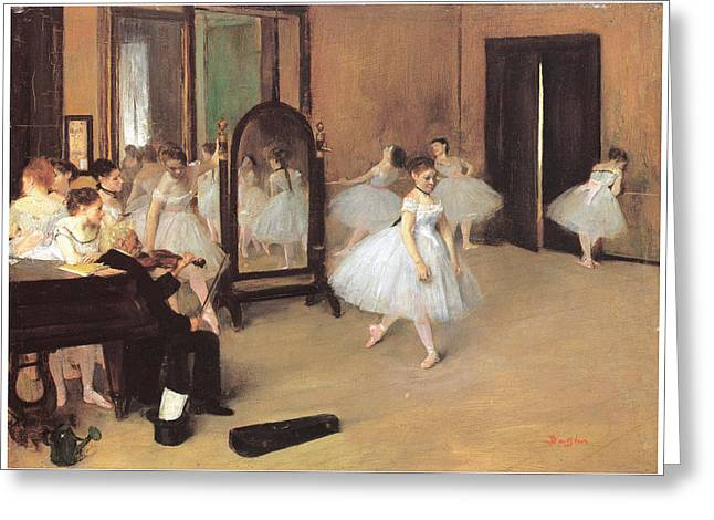 Dance Class Greeting Card by Edgar Degas