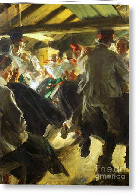 Dance In Gopsmor Greeting Card by Pg Reproductions